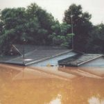 Many houses in some areas of Geneva, Alabama were flooded by rising waters.