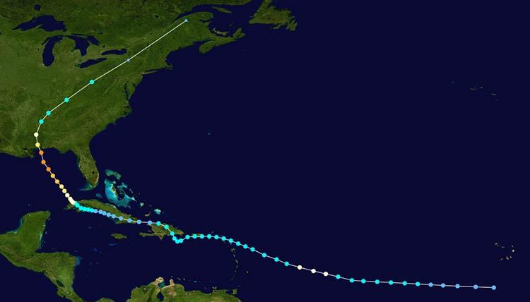 Hurricane Frederic track, 1979