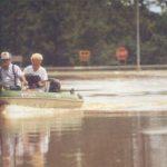 Residents survey flood damage in some parts of Geneva, Alabama.
